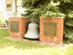 3-54 Memorial plaques and bell at the Riley Home