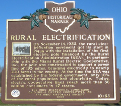 10-55 Rural Electrification marker