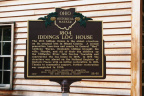 22-55 Iddings Log House Ohio Historical Marker