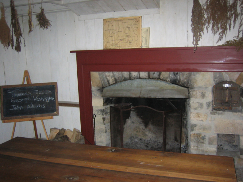 22-55 Fireplace Inside Cabin