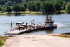 6-56 Sisterville Ferry at Fly, Ohio, Landing on May 22, 2005