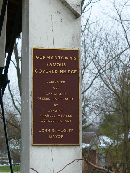 1-57 Dedication plaque on bridge