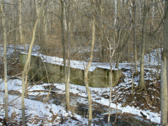 10-57 Miami and Erie Canal sluice gate ruins at Tadmor site