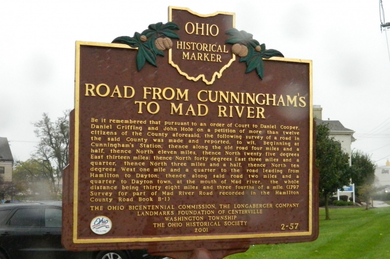 2-57 Road From Cunningham's to Mad River Marker