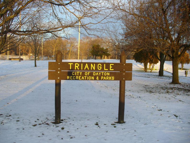 9-57 Triangle Park sign, near marker
