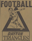 9-57 Dayton Triangles Game Program Cover