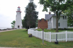 11-62 Marker and Marblehead Light House in Marblehead, Ohio