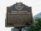 11-67 Marker #11-67 Maple Industry in Garrettsville, Ohio