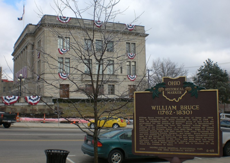 6-68 Bruce Marker and Preble County Courthouse