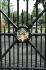 8-72 Close-up of the original gates used at the White House, now gracing the entrance to Spiegel Grove.