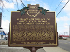 20-76 Alliance - Birthplace of Ohio's State Flower - The Scarlet Carnation