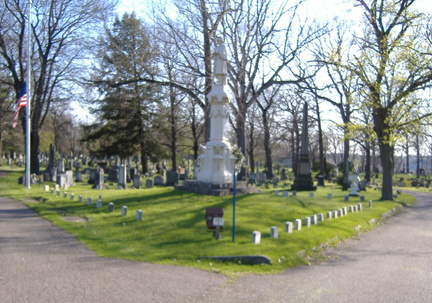 21-76 Civil War Graves and monument