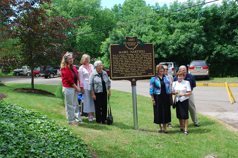 22-76 People at Marker Dedication Day in Alliance.