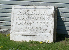 1-77 John Brown Tree Sign (Tree is Gone)