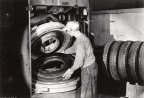 23-77 Goodyear Tire and Rubber Company Employee Making Tires