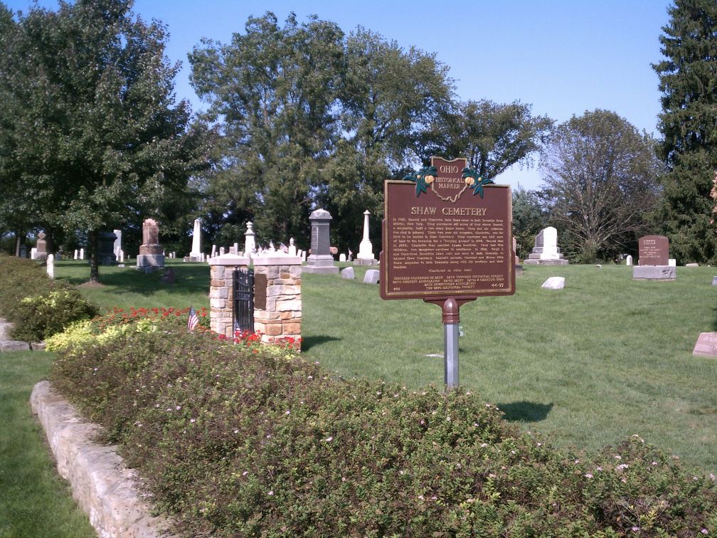 44-77 shot of the marker and cemetery