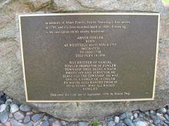 24-78 Township plaque in memory of Abner Fowler