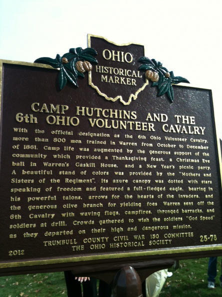25-78 Side two: Camp Hutchins and the 6th Ohio Volunteer Cavalry