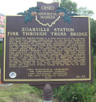 10-79 Zoarville Bridge Marker