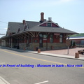 8-79 Overview Of Depot Museum includes 8 rail cars Diner smelled great