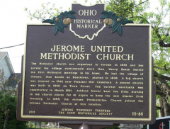 13-80 Jerome United Methodist Church Marker
