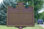 10-83 Harveysburg School (Marker) 8-09-14
