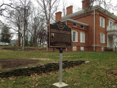 15-83 Charles Clark marker in front of Glendower Mansion
