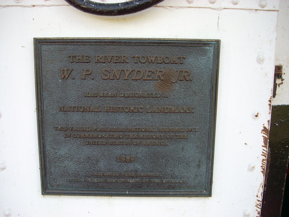 19-84 Natlional marker for the Snyder -- Good musuem fun tour of ship will go back