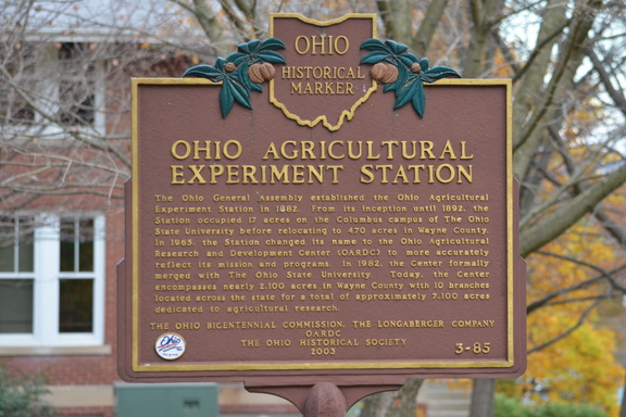3-85 Ohio Agricultural Experiment Station - Front