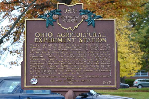 3-85 Ohio Agricultural Experiment Station - Back