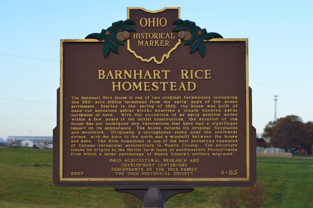 4-85 Barnhart Rice Homestead - Marker Back