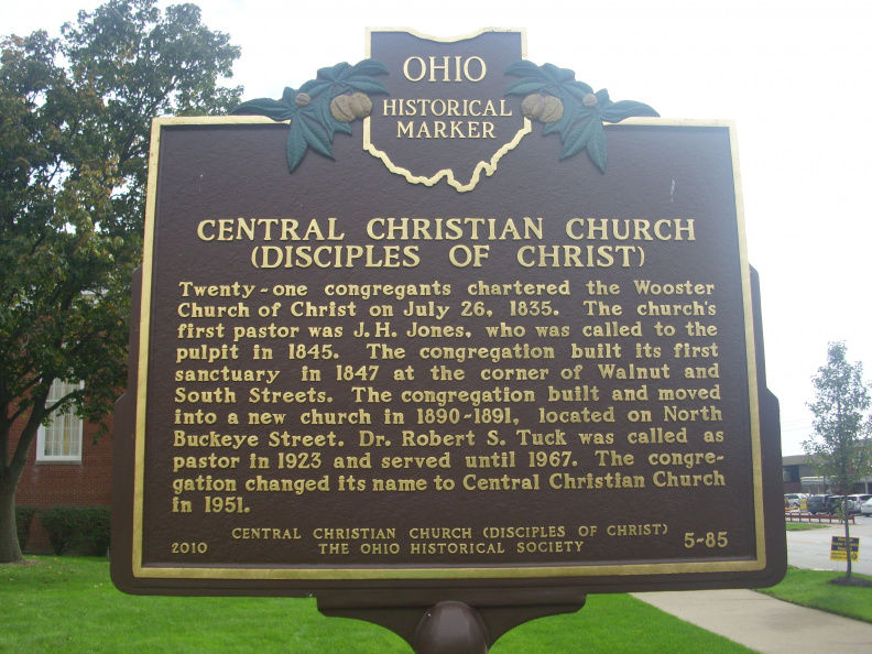 5-85 Backside... Central Christian Church (Disciples of Christ)