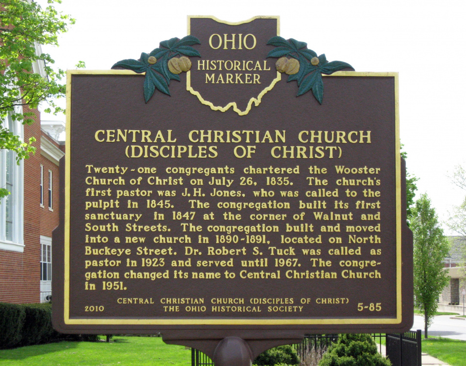 5-85 Central Christian Church Marker