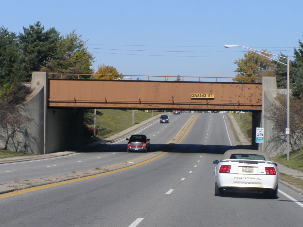4-86 The Underpass on Main Street (Marker location is at track level to the left.  Next Intersection to the north, take a left, then the 1st left.
