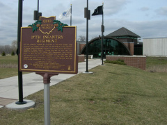 17-87 Marker in front of Ft. Meigs Visitor Center