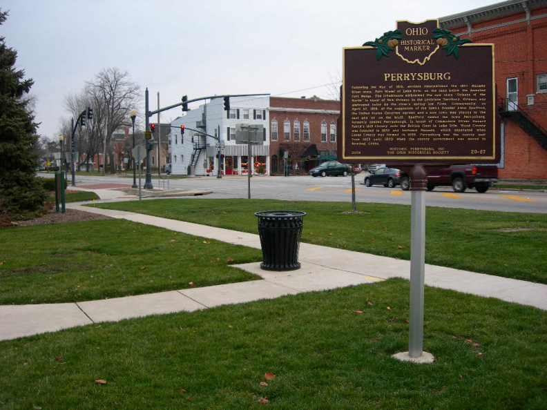 20-87 The Marker in Hood Park, downtown Perrysburg