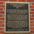 4-87 Plaque on the front of St. Patrick's Church