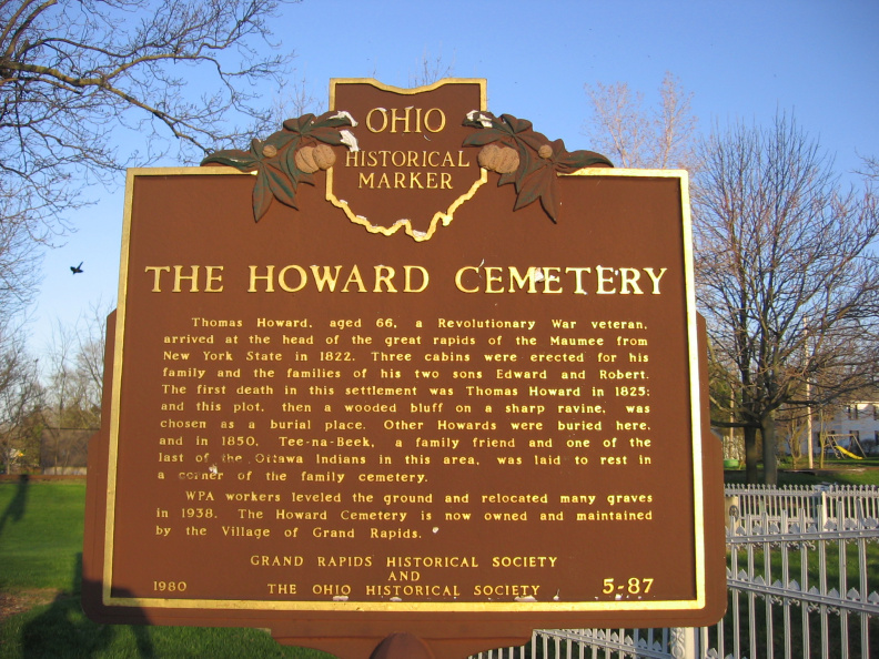 5-87 Howard Cemetery Marker