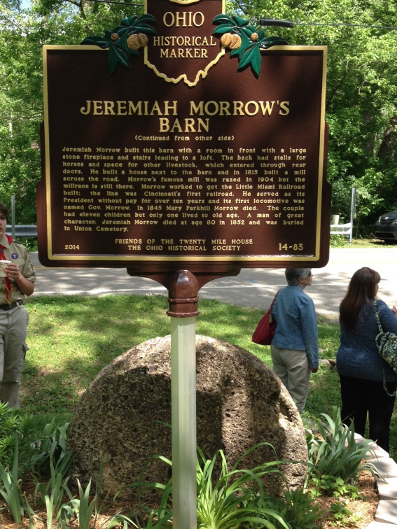 Jeremiah Morrow's Barn (Marker Backside)