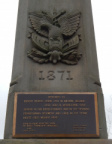 Mooretown Soldiers Monument closeup