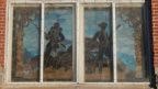 Military Figures, Stained Glass Window