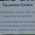Tallmadge Church sign