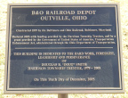 Plaque on the depot