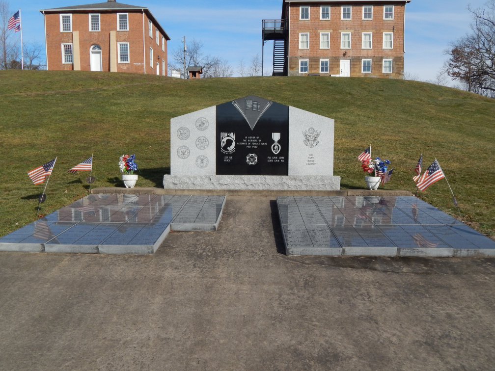 Veterans Memorial near marker