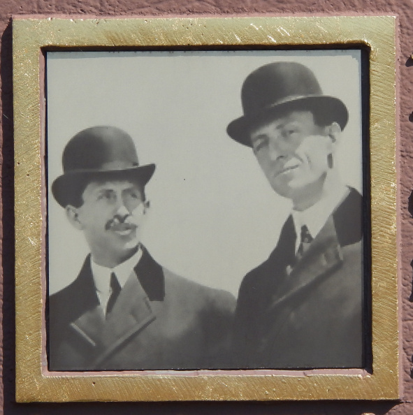 Marker 17-57 front photo of Orville and Wilbur Wright.jpg