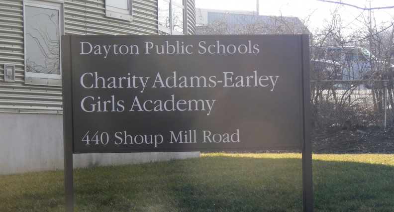 Entrance sign to Charity Adams Early Girls Academy.JPG
