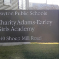Entrance sign to Charity Adams Early Girls Academy