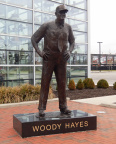 Statue of Woody Hayes in front of the Woody Hayes Athletic Center