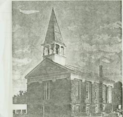 Second Baptist Church with bell tower