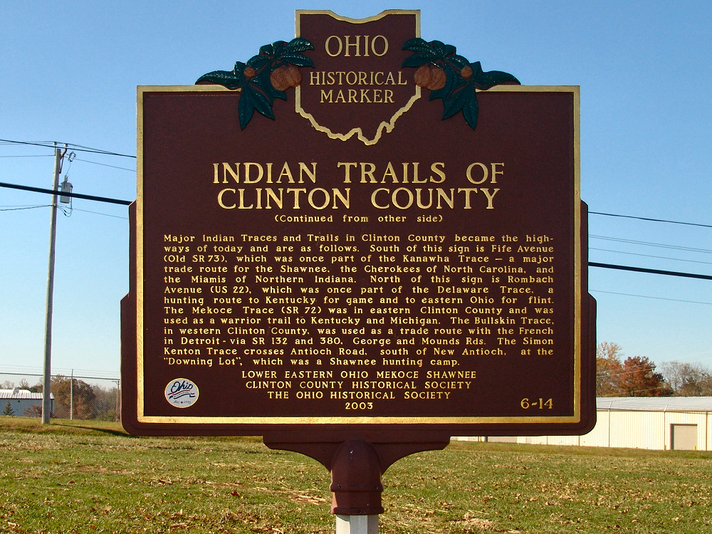 6-14 Indian Trails of Clinton County (Side B)